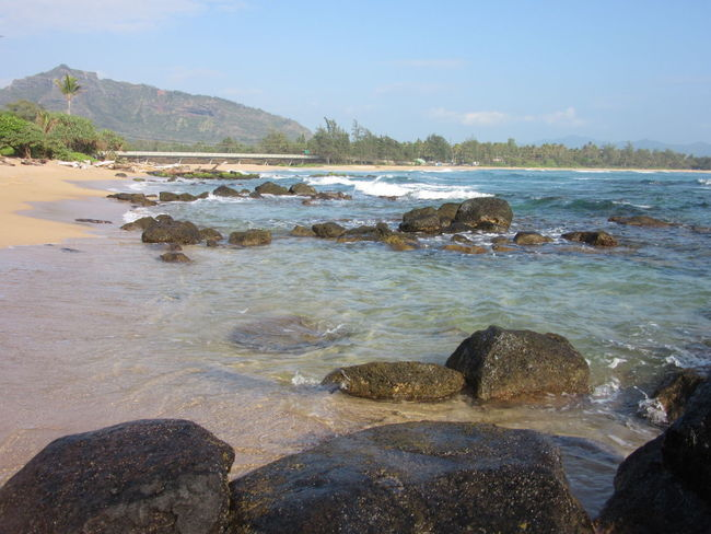 Water Beach Nature Outdoors No People Sky Rocks And Water Tranquil Scene Travel Destinations Mountains Kauai Hawaii Tide