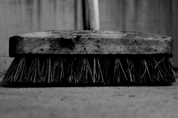 Cleaning Equipment Close-up No People Broom Brush Bristles Black And White Friday