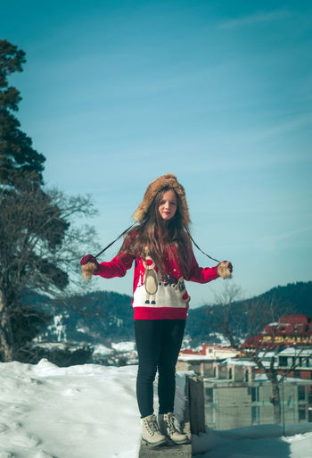 One Person Young Adult Winter Young Women Hair Long Hair Hairstyle Real People Cold Temperature Standing Smiling Snow Clothing Leisure Activity Lifestyles Happiness Nature Warm Clothing Outdoors Beautiful Woman Scarf