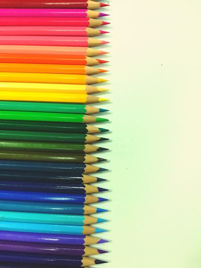 Close-up of multi colored pencils