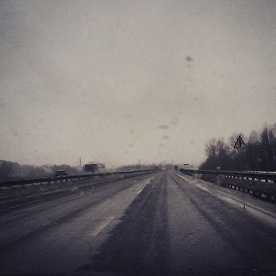 Зимние дороги!!! Хаа...))) дороги зимушказима М7 (Волга) кошмар road instawinter wintertime winter скорНовыйГод гдеснег tatarstan