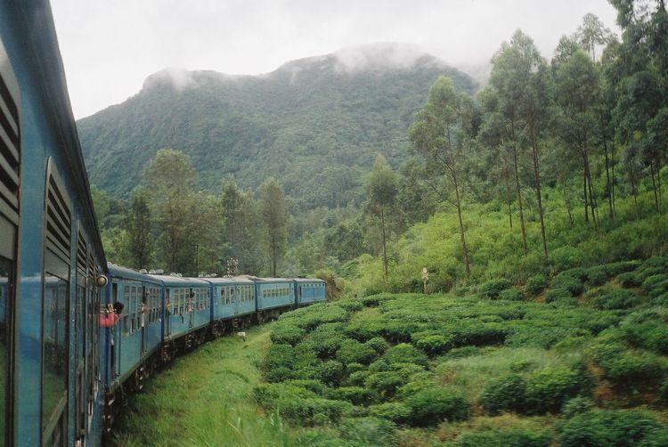 Sri Lanka Sri Lanka Travel Kandy Locomotive Mountain Mountain Range Nature Outdoors Passenger Train Plant Rail Transportation Railroad Track Scenics Sky Steam Train Transportation Travel EyeEmNewHere