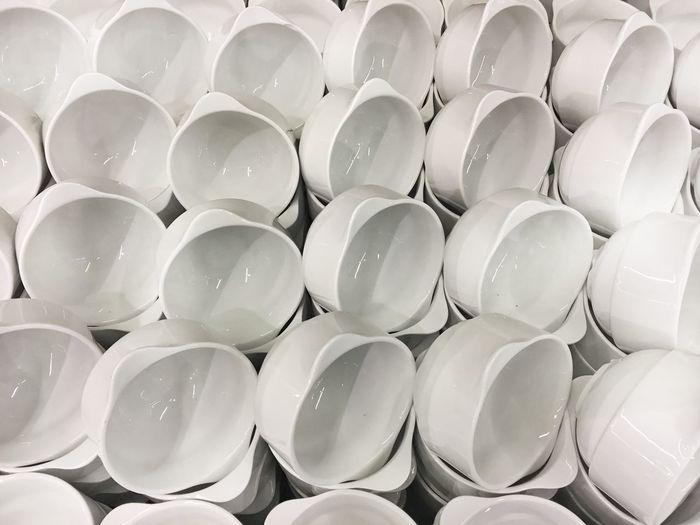 Full frame shot of bowls