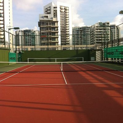 Gonna have a great time playing Tennis on the roof Singapore Iamalexchan