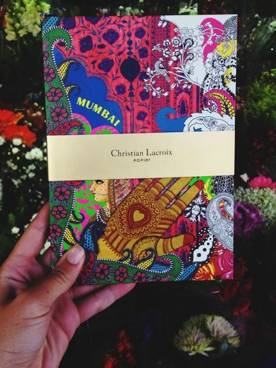 In love with my new notebook Christian Lacroix  Notebook Stationery Flowers