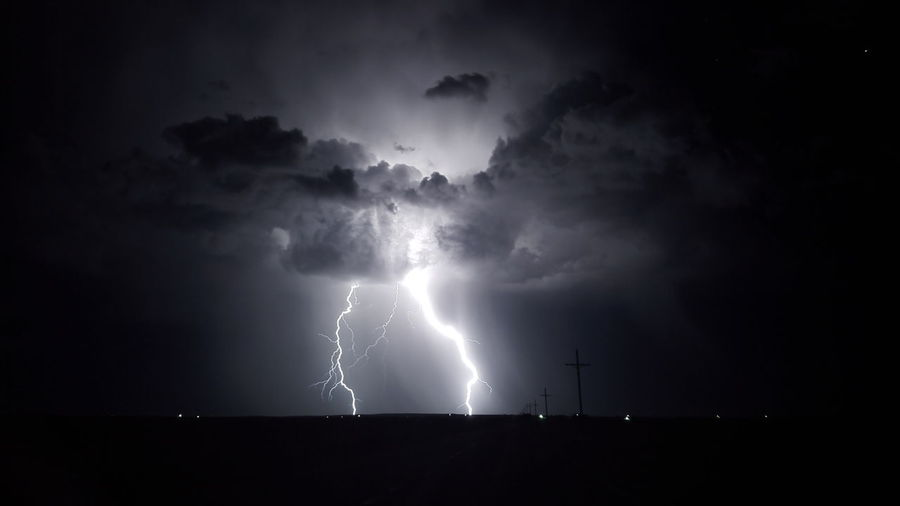 On a drive away from the city lights... Beauty In Nature Dark Environment Forked Lightning Lightning Meteorology Night Ominous Power Power In Nature Sky Storm Thunderstorm Warning Sign