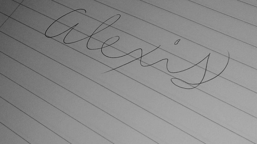 Indoors  Paper Cursive Writing