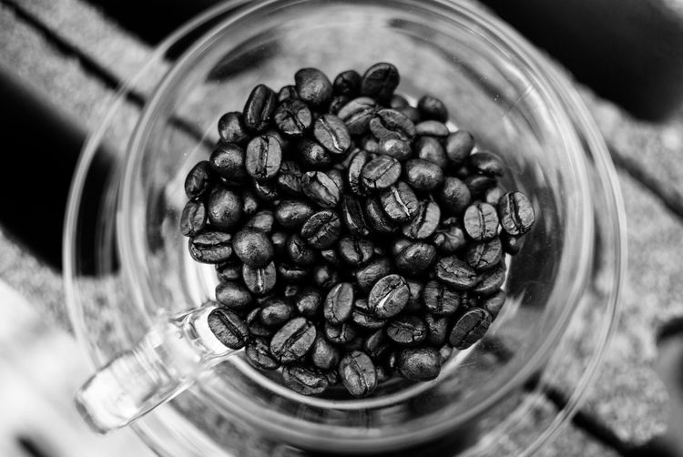 Food And Drink Food Indoors  Freshness Container Roasted Coffee Bean Still Life Jar Selective Focus Close-up Coffee - Drink Coffee Large Group Of Objects No People Abundance Healthy Eating Glass - Material Transparent Wellbeing High Angle View Caffeine Crockery
