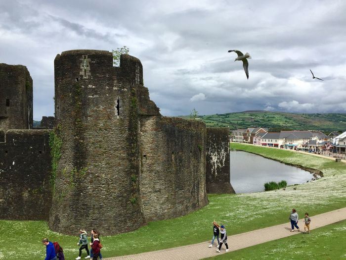 Caerphilly Castle, there are dragons in Wales Dragons