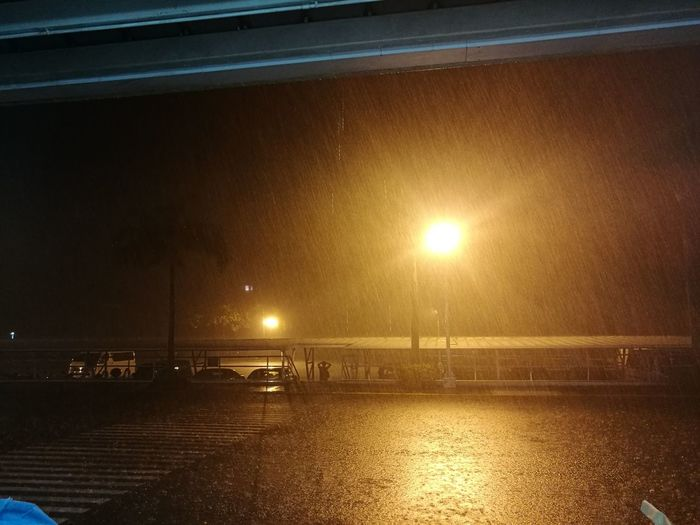 Rain in the middle of the night