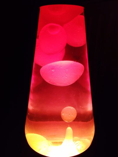 Lava Lamp Night Lights Orange Gloopy Cool Pretty Electric in Peterborough United Kingdom