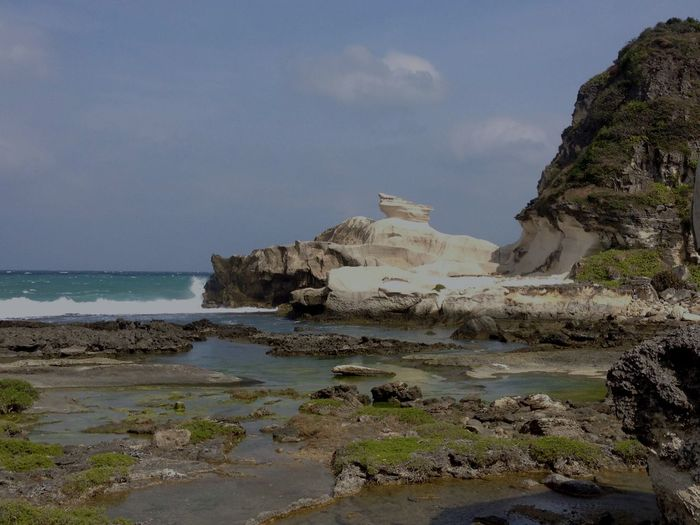 Rock - Object Nature Rock Formation Beauty In Nature Water Sky Scenics