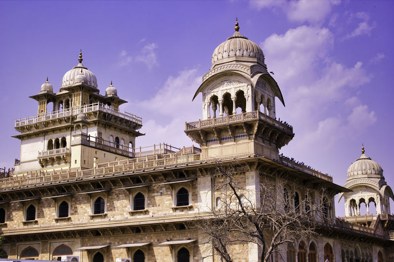 Low angle view of a building of a museum in jaipur, rajasthan