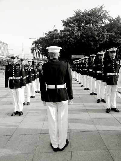 To protect the people. Independence Day Blackandwhite Photography Philippines Marines Corps