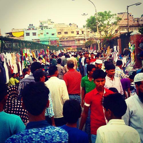 yeh hai delhi ki bheed at Puranidelhi Delhi6 JamaMasjid Crowd