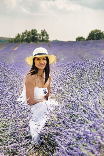 EyeEm Selects Purple One Person Only Women Lavender One Woman Only Adult Adults Only Nature Summer Portrait Flower People Beautiful Woman Young Adult Looking At Camera Beauty Young Women One Young Woman Only Outdoors Beauty In Nature Valensole Lavenderflower Lavender Colored