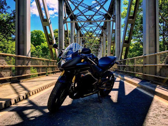 Boat O' Brig Transportation Roadside Outdoors Motorcycles Motorcycle Motorbike Honda Cbr Bridge