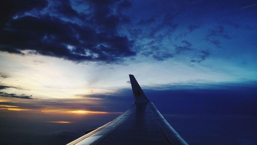 Flight Sunset Water Sky Cloud - Sky Architecture Sky Only