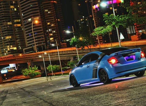 Automotive Photoshoot, this ocassion: Scion tC mk1 Scion  Scion Tc ScionTC Scionracing TRD Illiest Automotive Photography Automotivephotography Automotiveporn PanamaCity Night Photography Nightphotography Panamá Street Parked Car City Architecture Places Building Exterior Night View Illuminated Built Structure