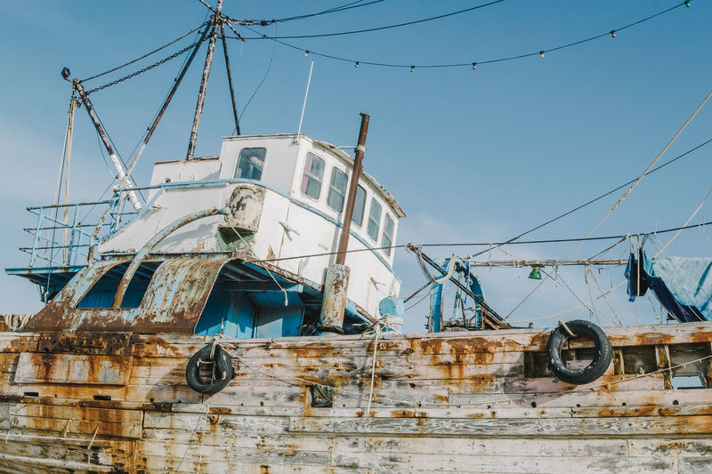 Abandoned Clear Sky Cyprus Damaged Day Latchi Low Angle View Mode Of Transport Nautical Vessel No People Outdoors Sky Transportation Wreck Wreckage