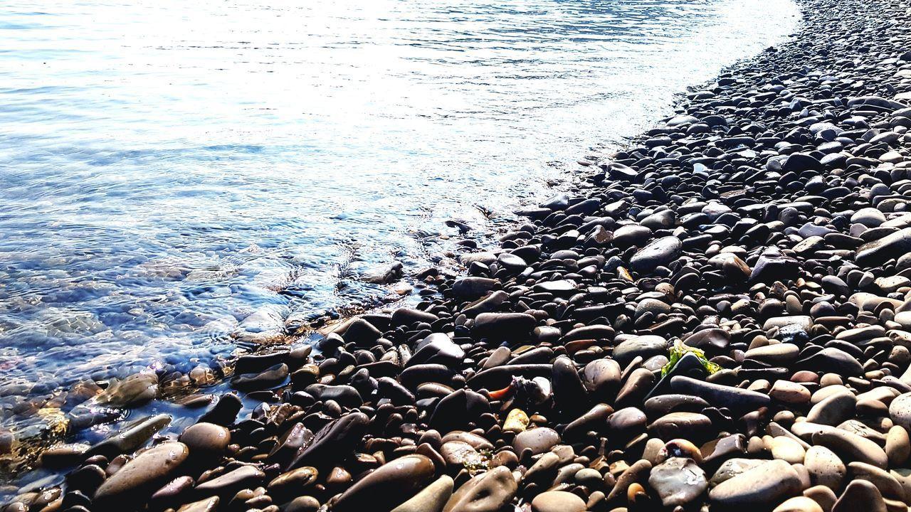 HIGH ANGLE VIEW OF PEBBLE BEACH