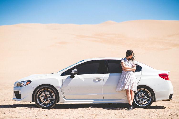 Woman in a desert