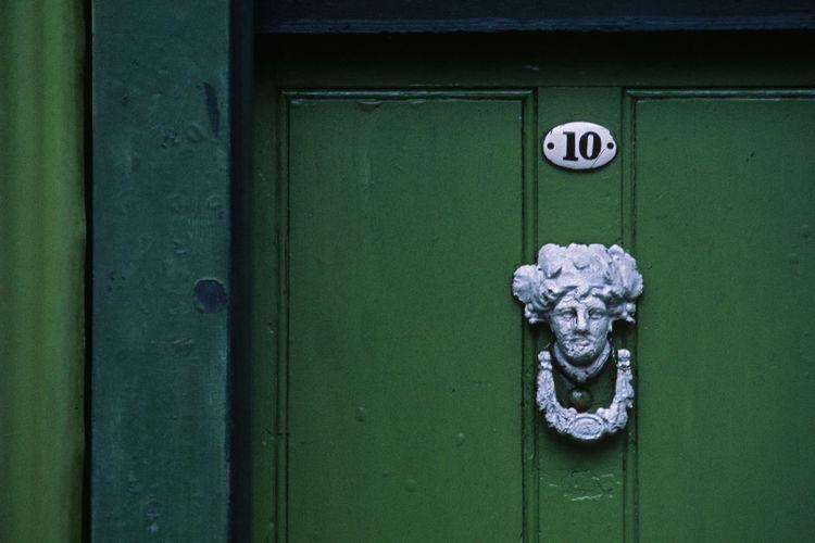 Door knocker at london, great britain