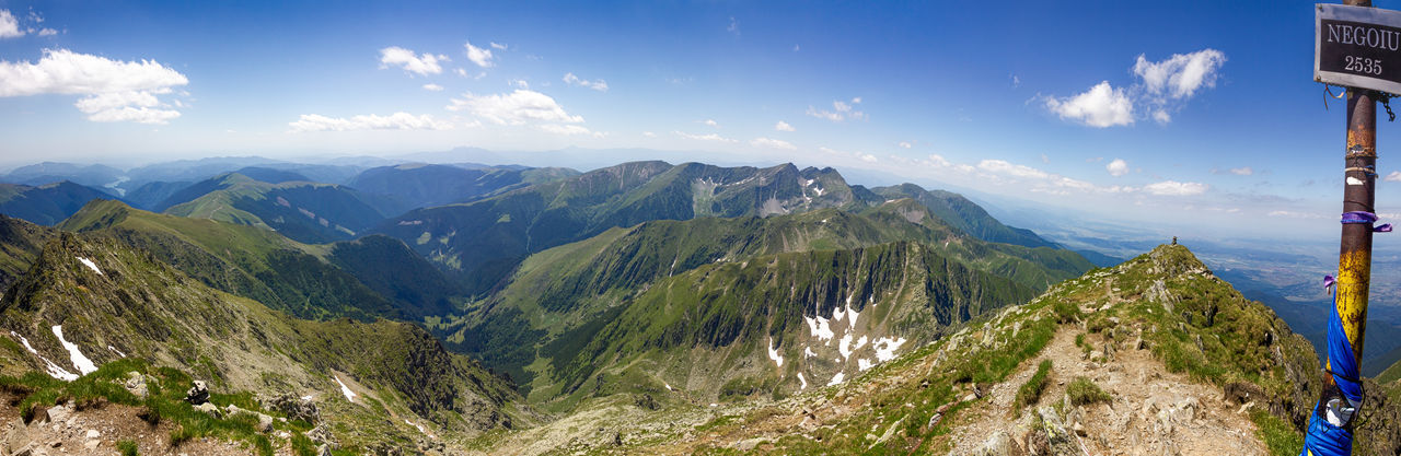 Peak Negoiu, Transylvania Adventure Beauty In Nature Leisure Activity Mountain Nature Outdoors Panorama Panoramic Panoramic Photography Panoramic View Peak Sky Vacation