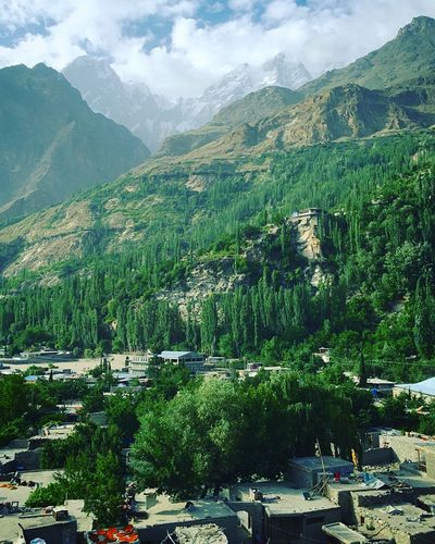 Karimabad at the time of drying apricots, Ultar ll (7388 m) in the back Hunza Karimabad Northern Areas Pakistan Ultar Sar Pakistan Traveling Unforgettable Mountains Majestic Majestic Nature