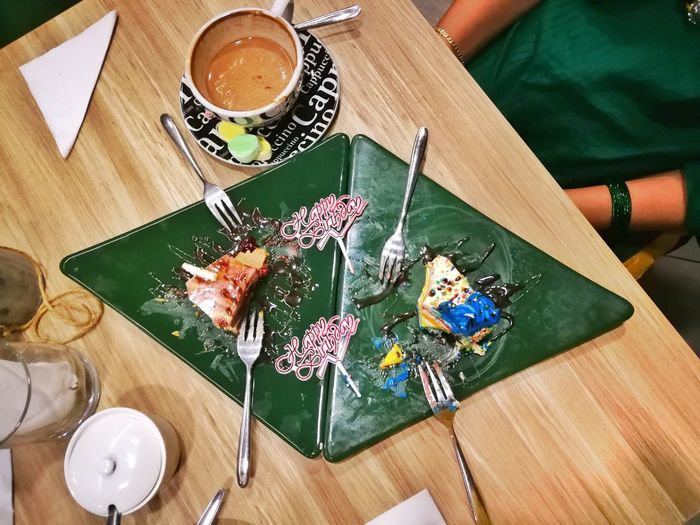 High Angle View Table Indoors  Directly Above Textile One Woman Only Only Women Skill  Adults Only One Person Day Adult Close-up Flower People Freshness The Week Of Eyeem The Week On EyeEm Food Coffee - Drink Food And Drink Food Stories Cake Birthday