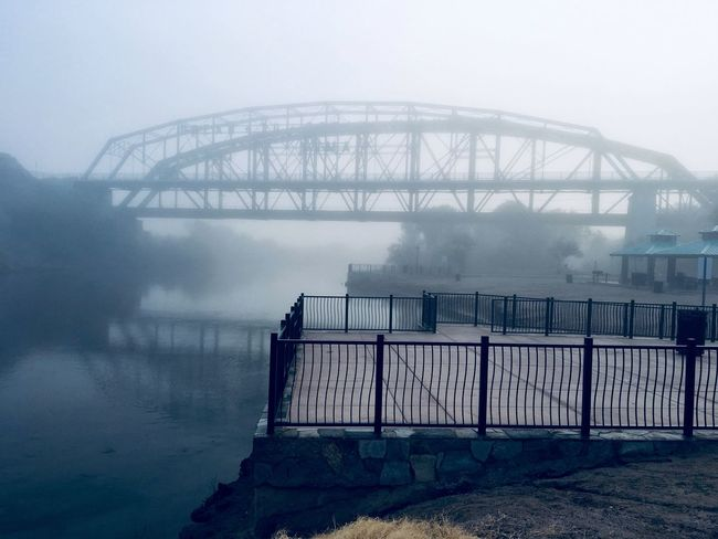 Getting closer to the Ocean To Ocean Bridge, Awesome Fog Coverage, Loving this Morning Walk more than ever✨ Me Alone On A Walk Enjoying The View Playing With Filters Bridge Photography Sidewalk Photograhy Me At Peace Fog IPhone Photography Water Built Structure Architecture Fog Bridge Bridge - Man Made Structure Connection Transportation Outdoors River