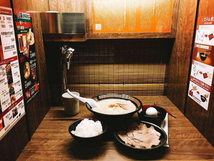 Ichiran Ramen Osaka Food And Drink Food Freshness Table Indoors  No People Still Life
