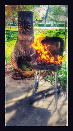 Welcome Spring Flame Burning Streamzoo Family Hello World Thingsthatmakemesmile 2017 Heat - Temperature Richwood Texas Outdoors