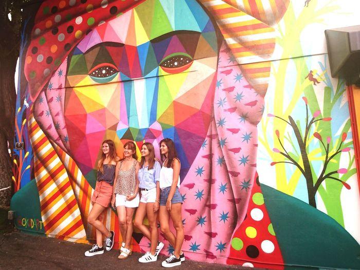 Wynwoodwalls Wynwood Art Walk Street Photography Street Art Miami Girls Multi Colored Mobile Photography Street Art Photography Street Art Miami Arts Culture And Entertainment