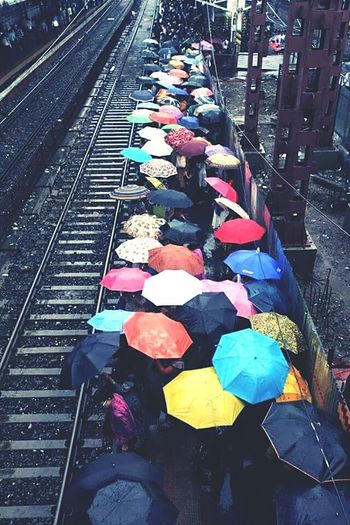 Life in a metro ! BombayDiaries Rainy Day Incredible India Rainshower Busy Day Colorsplash Vibrantlife City Life Urban Life Busy City