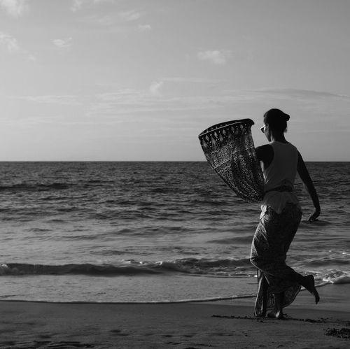 Breathing Space Dancer Sea Beach Water Real People Nature