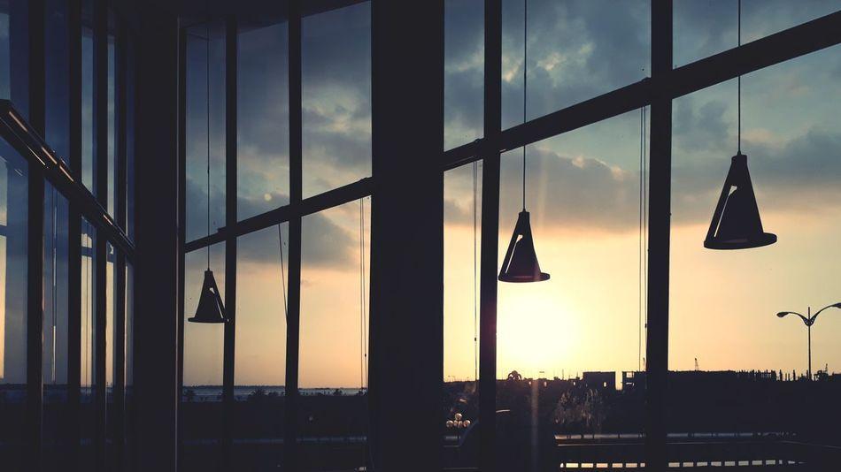 Window Sky Hanging Sunset Cloud - Sky Silhouette No People Indoors