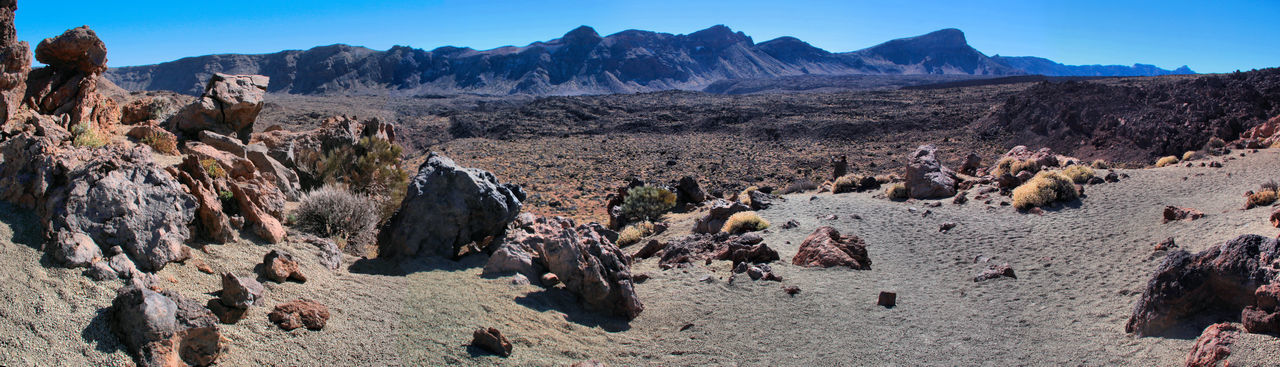 Canadas Del Teide Day Desert Landscape Mountain Mountain Range Nature Nature_collection No People Outdoors Panorama Panoramic Photography Physical Geography Rock - Object Scenics Sky Teide National Park Tenerife Travel Destinations Volcanic Landscape