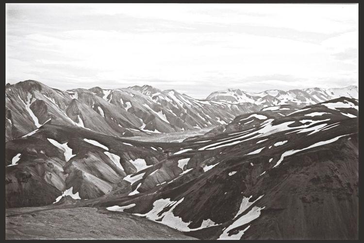 Monochrome Blackandwhite Iceland Mountains