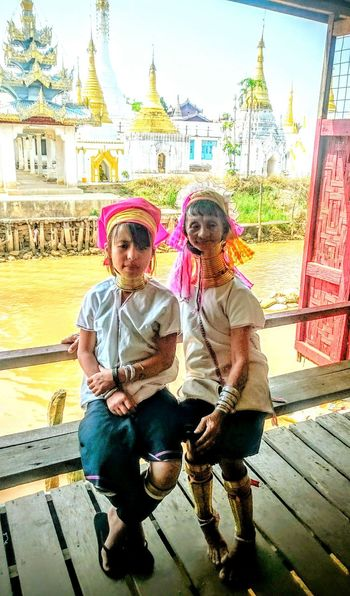 Long Neck Tribe Golden Rings Inle Lake Shan State Myanmar Birma Burma Indigenous People Indigenous Culture Padaung Tribe Metal Rings Ywama Village Nyaungshwe Pagodas Temples And Shrines Generations Young And Old Jewelry Traditional Ornaments People And Places