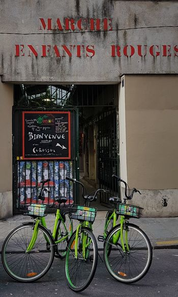 Hiding Place Marketplace A Place You Must Visit A Place For Good Food Check This Out Marche Des Enfants Rouges Paris Bicycle Text Store No People Day Built Structure Outdoors