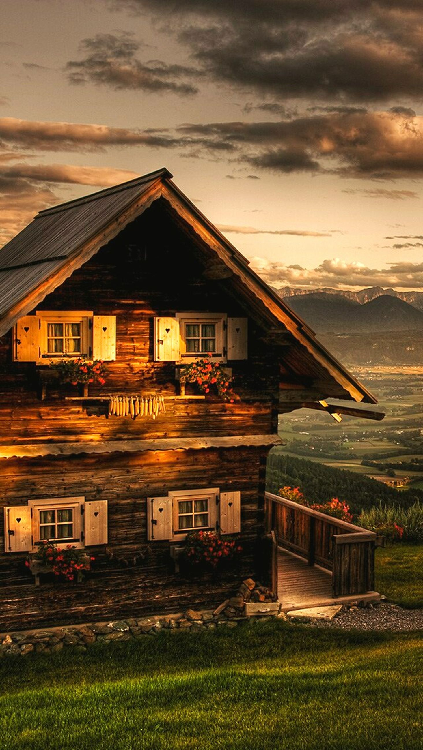 architecture, built structure, building exterior, house, sunset, sky, residential structure, residential building, sunlight, cloud - sky, water, orange color, exterior, outdoors, cloudy, scenics, tranquility, facade, romantic sky, tranquil scene, no people