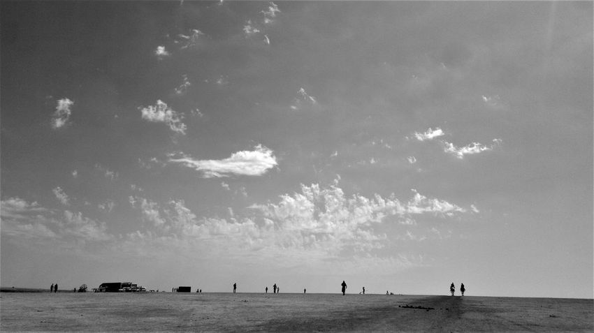 JUST WALK, Landscape_Collection Sky And Clouds Walking Around Beauty In Nature Black And White Blackandwhite Day Horse Landscape Landscape_photography Nature No People Outdoors People River Scenics Sea Sky Sky And Land Walking Walking Around The City