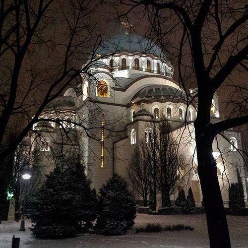 Belgrade Temple Saintsava Winter Nightview HramSvetogSave Ig_belgrade