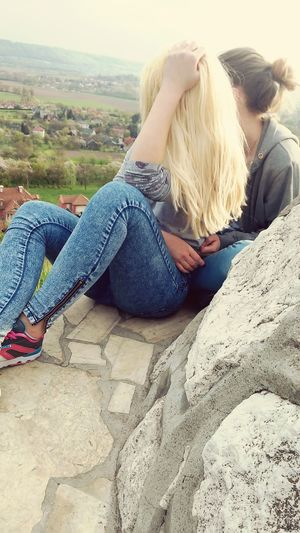 Me And My Bestfriend Relaxing Time Watching The Sky Beautiful View Happy Time Funny Faces Outside Photography
