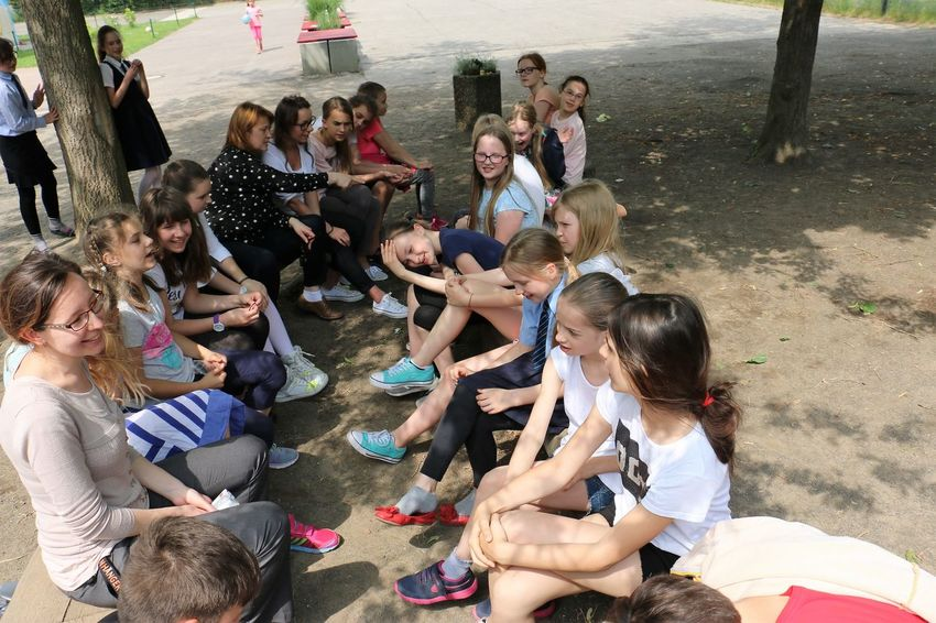 Children during the school exchange. Multicultural programme Boys Children Classroom Fun Girls Group Work Joy Multiculturalism People And Places School School Exchange School Uniforms Around The World Teachers The Color Of School