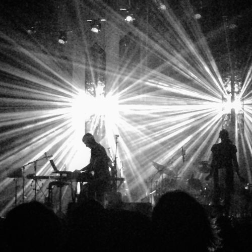 Soundtrack Of Our Lives Sufjan Stevens in Santa Barbara. Concert Lights Light And Shadow Silhouette Performance Music Theater Church Stage