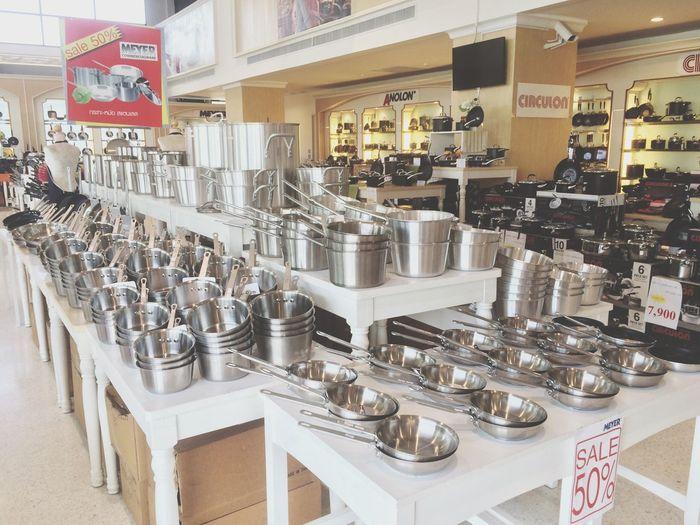 Market Market Stall Kitchen Utensils A Lot Of