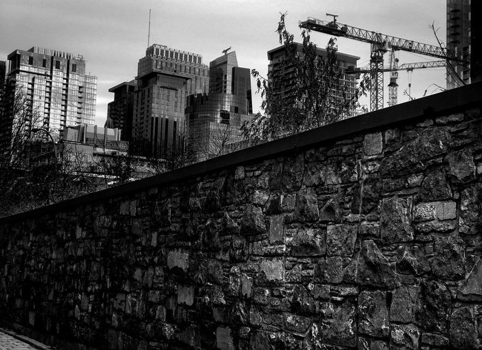 Architecture Built Structure Building Exterior Wall City Building Sky Construction Industry Wall - Building Feature No People Construction Site Brick Stone Wall Machinery Concrete The Art Of Street Photography My Best Photo The Mobile Photographer - 2019 EyeEm Awards The Traveler - 2019 EyeEm Awards