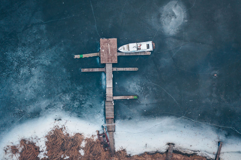 Frozen port Lithuania Lietuva Europe Drone  Aerial View Aerial Mavic 2 Mavic 2 Pro Frozen Port Port Ship Ice No People Cross Nature Snow Day Winter Cold Temperature Spirituality Outdoors Beauty In Nature Fog Water